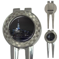 New York Skyline New York City 3 In 1 Golf Divots