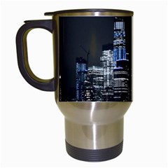 New York Skyline New York City Travel Mugs (white) by Celenk