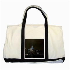 New York Skyline New York City Two Tone Tote Bag by Celenk