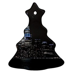 New York Skyline New York City Christmas Tree Ornament (two Sides) by Celenk