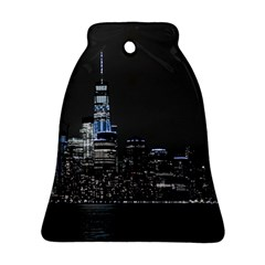 New York Skyline New York City Bell Ornament (two Sides) by Celenk