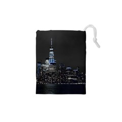 New York Skyline New York City Drawstring Pouch (xs) by Celenk