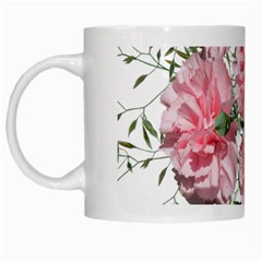 Carnations Flowers Nature Garden White Mugs