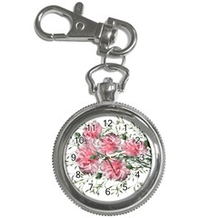 Carnations Flowers Nature Garden Key Chain Watches by Celenk
