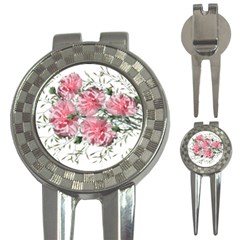 Carnations Flowers Nature Garden 3 In 1 Golf Divots by Celenk