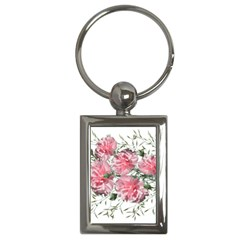 Carnations Flowers Nature Garden Key Chains (rectangle)  by Celenk