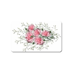 Carnations Flowers Nature Garden Magnet (name Card) by Celenk