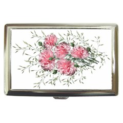 Carnations Flowers Nature Garden Cigarette Money Case by Celenk