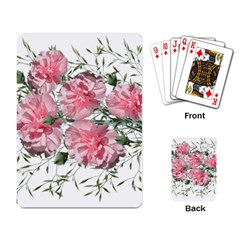 Carnations Flowers Nature Garden Playing Cards Single Design by Celenk