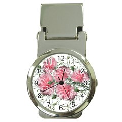 Carnations Flowers Nature Garden Money Clip Watches by Celenk