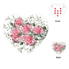 Carnations Flowers Nature Garden Playing Cards (heart) by Celenk