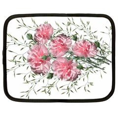 Carnations Flowers Nature Garden Netbook Case (large) by Celenk