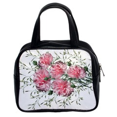 Carnations Flowers Nature Garden Classic Handbag (two Sides)