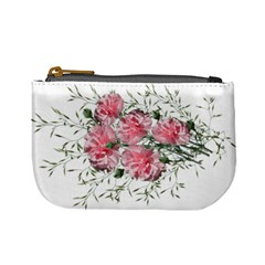 Carnations Flowers Nature Garden Mini Coin Purse by Celenk