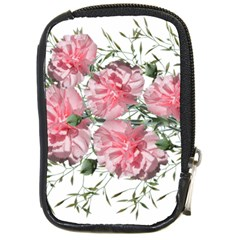 Carnations Flowers Nature Garden Compact Camera Leather Case by Celenk