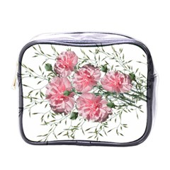 Carnations Flowers Nature Garden Mini Toiletries Bag (one Side) by Celenk