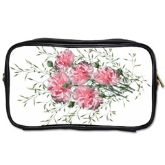 Carnations Flowers Nature Garden Toiletries Bag (two Sides) by Celenk