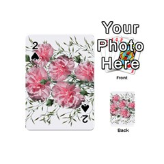 Carnations Flowers Nature Garden Playing Cards 54 (mini) by Celenk