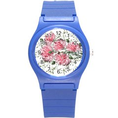 Carnations Flowers Nature Garden Round Plastic Sport Watch (s) by Celenk