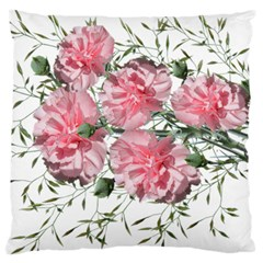 Carnations Flowers Nature Garden Large Cushion Case (two Sides) by Celenk