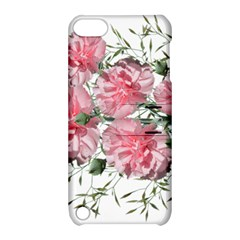 Carnations Flowers Nature Garden Apple Ipod Touch 5 Hardshell Case With Stand