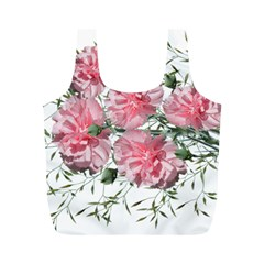 Carnations Flowers Nature Garden Full Print Recycle Bag (m) by Celenk