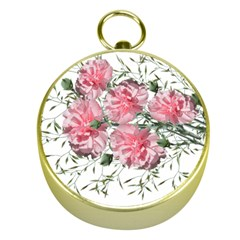 Carnations Flowers Nature Garden Gold Compasses by Celenk