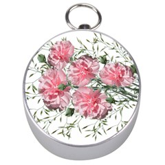 Carnations Flowers Nature Garden Silver Compasses by Celenk