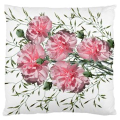 Carnations Flowers Nature Garden Large Flano Cushion Case (two Sides) by Celenk