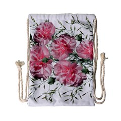 Carnations Flowers Nature Garden Drawstring Bag (small) by Celenk