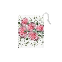 Carnations Flowers Nature Garden Drawstring Pouch (xs) by Celenk