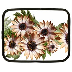 Sun Daisies Leaves Flowers Netbook Case (large) by Celenk