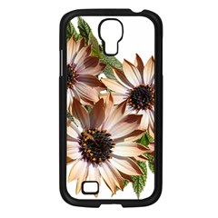 Sun Daisies Leaves Flowers Samsung Galaxy S4 I9500/ I9505 Case (black) by Celenk