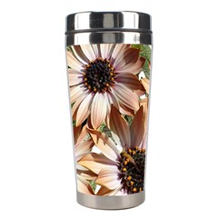 Sun Daisies Leaves Flowers Stainless Steel Travel Tumblers by Celenk