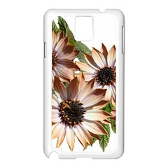 Sun Daisies Leaves Flowers Samsung Galaxy Note 3 N9005 Case (white) by Celenk