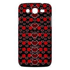 Red Lips And Roses Just For Love Samsung Galaxy Mega 5 8 I9152 Hardshell Case  by pepitasart
