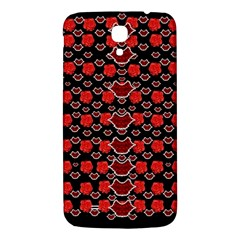 Red Lips And Roses Just For Love Samsung Galaxy Mega I9200 Hardshell Back Case by pepitasart
