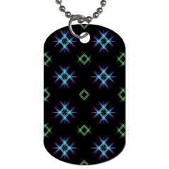 Background Abstract Vector Fractal Dog Tag (two Sides)