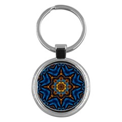 Pattern Abstract Background Art Key Chains (round)