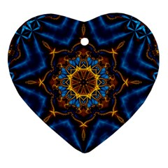 Pattern Abstract Background Art Heart Ornament (two Sides)