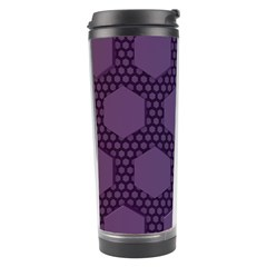 Hexagon Grid Geometric Hexagonal Travel Tumbler by Celenk