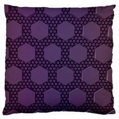 Hexagon Grid Geometric Hexagonal Large Flano Cushion Case (one Side) by Celenk