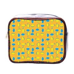 Lemons Ongoing Pattern Texture Mini Toiletries Bag (one Side) by Celenk