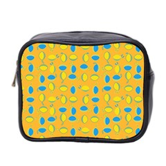 Lemons Ongoing Pattern Texture Mini Toiletries Bag (two Sides) by Celenk