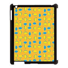 Lemons Ongoing Pattern Texture Apple Ipad 3/4 Case (black) by Celenk