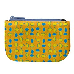 Lemons Ongoing Pattern Texture Large Coin Purse