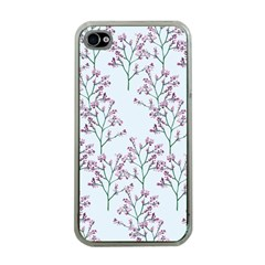 Flower Pattern Pattern Design Apple Iphone 4 Case (clear) by Celenk