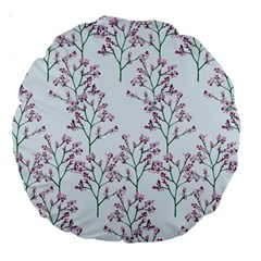 Flower Pattern Pattern Design Large 18  Premium Round Cushions by Celenk