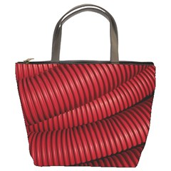 Tube Plastic Red Rip Bucket Bag