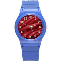 Tube Plastic Red Rip Round Plastic Sport Watch (s) by Celenk